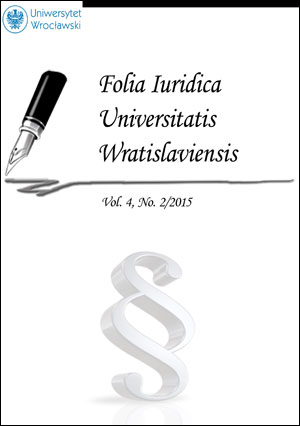 Folia Iuridica Universitatis Wratislaviensis. 2015, vol. 4, no 2