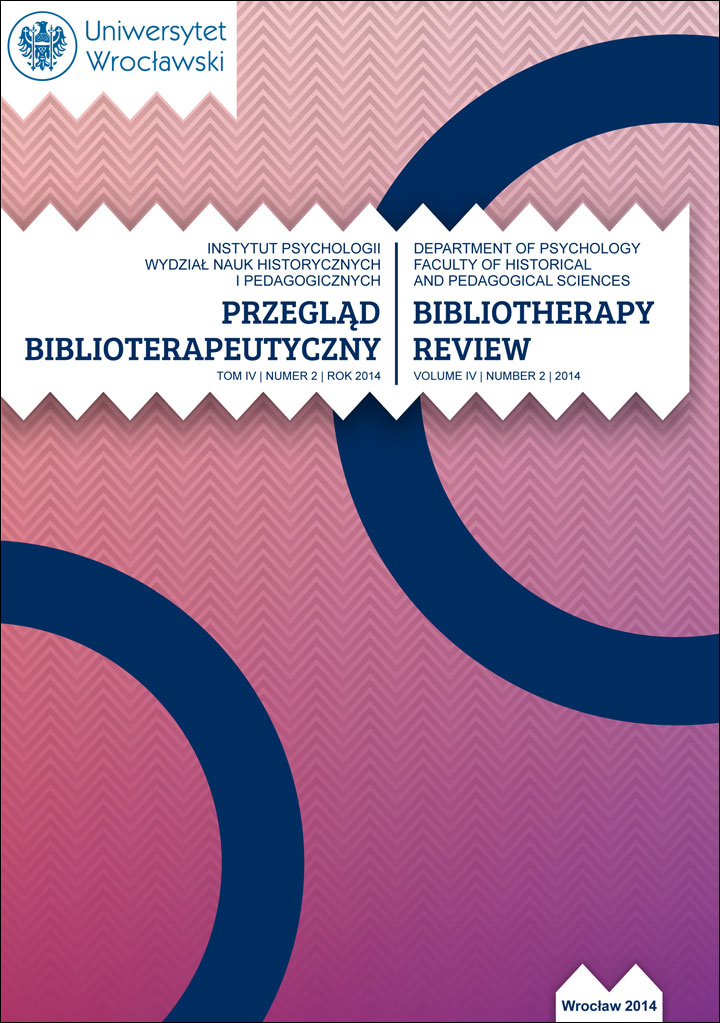 Przegląd Biblioterapeutyczny 2014, Tom IV, Nr 2